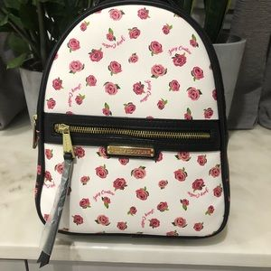 JUICY COUTURE Black Disty Rose Promenade Backpack